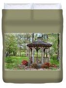 Spring Gazebo Pastel Effect Duvet Cover