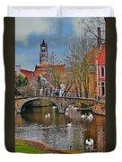 Spring In Bruges Duvet Cover