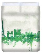 Spring In Paris France Duvet Cover
