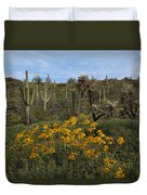 Spring In The Superstition Wilderness Duvet Cover