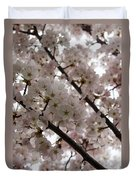 Spring Is Beautiful - A Cloud Of Pastel Pink Blossoms Duvet Cover