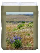 Spring Lupines And Cheatgrass Duvet Cover