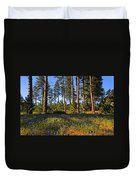 Spring Lupines In The Forest Duvet Cover
