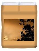 Spring Maple Silhouette Duvet Cover