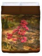 Spring Mignonette Flower Duvet Cover