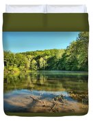 Spring Mill Lake Duvet Cover