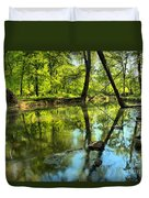 Spring Mill Reflections Duvet Cover