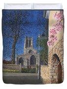 Spring Morning Brides Cottage Tickhill Yorkshire Duvet Cover