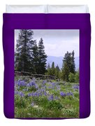 Spring Mountain Lupines Duvet Cover