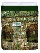 Spring Near Shrine To Mary-meryem Ana Evi-turkey Duvet Cover