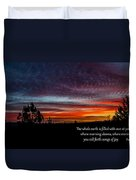 Spring Peaceful Morning Sunrise Bible Verse Photography Duvet Cover