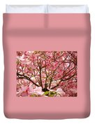 Spring Pink Dogwood Tree Blososms Art Prints Duvet Cover by Baslee Troutman