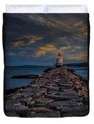 Spring Point Ledge Lighthouse Duvet Cover
