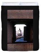 Spring Point Ledge Lightouse Duvet Cover by Skip Willits