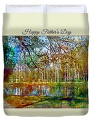 Spring Pond Photoart Father's Day Duvet Cover