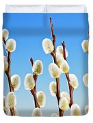 Spring Pussy Willows Duvet Cover