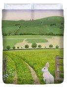Spring Rabbit Duvet Cover
