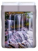 Spring Runoff At The Falls Duvet Cover