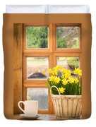Spring Showers Duvet Cover by Amanda Elwell