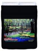 Spring Spendor Tulip Garden Duvet Cover