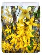 Spring - Sprig Of Forsythia Duvet Cover