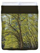 Spring Time In Bryant Park New York Duvet Cover by Angela A Stanton