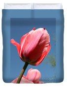 Spring Tulip Blues Duvet Cover