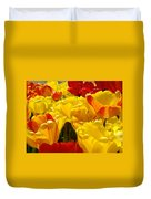 Spring Tulips Art Prints Yellow Red Tulip Flowers Duvet Cover