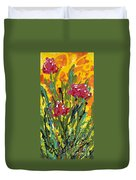 Spring Tulips Triptych Panel 3 Duvet Cover