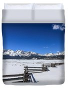 Spring View Of The Sawtooth Mountains Duvet Cover