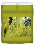 Spring Weeping Willow Duvet Cover