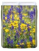 Spring Wildflower Bouquet  Duvet Cover