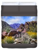 Spring Wildflowers At Anza Borrego Duvet Cover