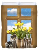 Spring Window Duvet Cover by Amanda Elwell