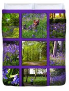 Spring Woodland Picture Window Duvet Cover