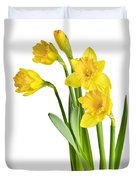 Spring Yellow Daffodils Duvet Cover