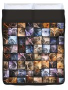Springs And Squares Duvet Cover