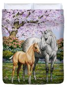 Spring's Gift - Mare And Foal Duvet Cover