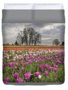Springtime At Tulip Farm Duvet Cover
