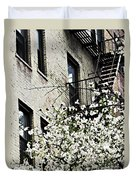 Springtime In Washington Heights Duvet Cover