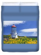 Springtime Lighthouse Duvet Cover