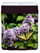 Springtime Lilac And Butterfly Duvet Cover