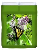 Springtime Moments- The Butterfly And The Lilac  Duvet Cover