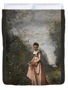 Springtime Of Life Duvet Cover by Jean Baptiste Camille Corot