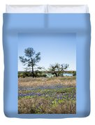 Springtime Texas Bluebonnets Naturalized Duvet Cover