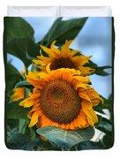 Squamish Sunflower Portrait Duvet Cover