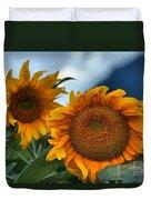 Squamish Sunflowers Duvet Cover