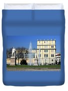 Square And Statues Duvet Cover