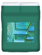 Squares And Triangles Duvet Cover