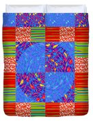 Squares Lines Dots Symbol Infinity Red Purple Blue Green Colorful Waves Unique Background Designs  A Duvet Cover